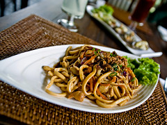 Stir fried udon with meat and vegetables (nicklwc) Tags: food photography nikon sigma malaysia kuala f28 lumpur 2470mm penchala subak d700