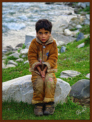 Fear, Powerful Yet Fragile (IshtiaQ Ahmed (is Back)) Tags: pakistan river kid fear alien valley riverbank kaghan powerful colony astonished gujjar kunhar jalkhad ishtiaqahmed