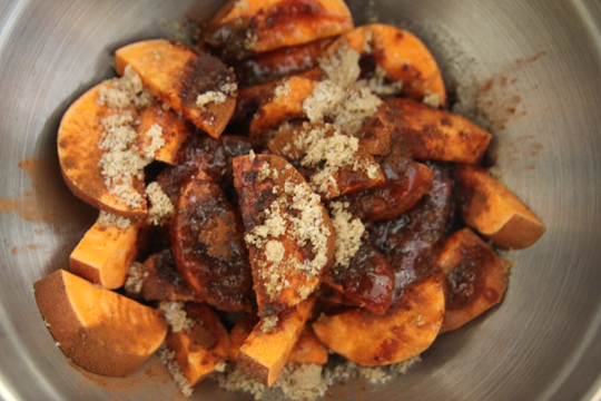 sprinkled sweet potatoes