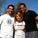 Wakeup Workout 20100311 Personal Trainers Jeff Bomberger and Carla Porter, NBC LA Anchor Man, Chris Schauble