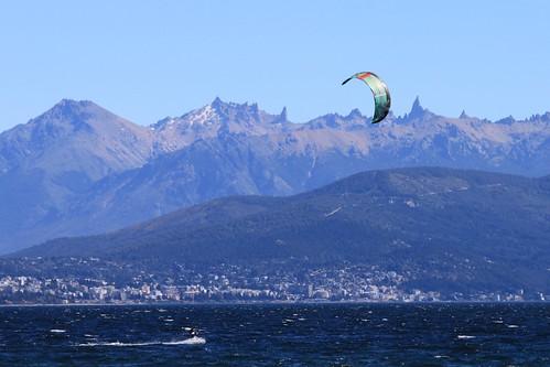 Kitesurfer in Bariloche