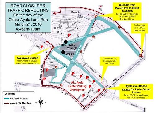 Globe Run for Home 2010 Traffic Advisory