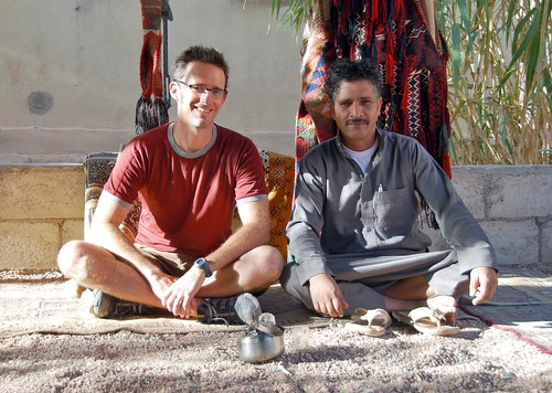 jeremy with eid, our wadi rum bedouin guide