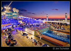 Carnival Valor, Lido Deck (IC360) Tags: cruise carnival sunset vacation canon twilight ship caribbean bluehour valor lidodeck carnivalvalor canon40d ic360images jimtschetter