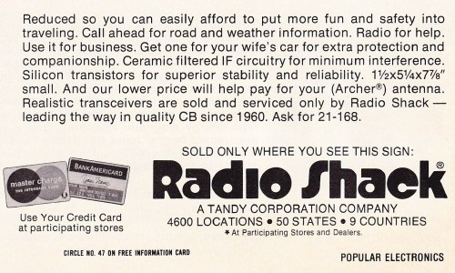 Radio Shack, detail