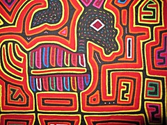 An example of Kuna mola, Panama (ali eminov) Tags: textiles textileart embroidery tribalart molas kuna panama fabrics fabricart panamapixs centralamerica guna
