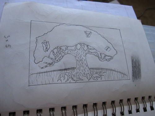 Linocut sketch