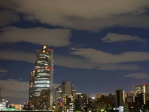 painting clouds on Tokyo Night Sky