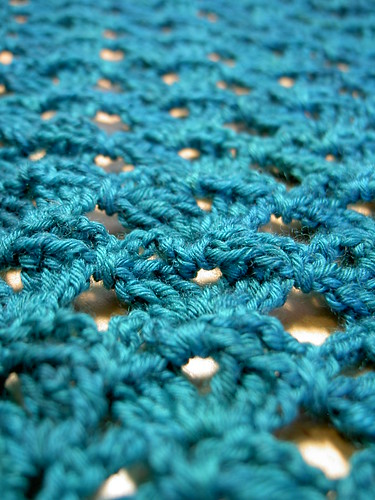 Crochet shawl in progress