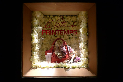 Vitrines La fête du Printemps - Paris, mars 2010