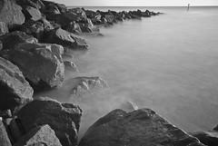 Mappleton sea defences (cactusmelba) Tags: sea white black college water glass photography mono rocks long exposure pentax welding sigma filter hull 1020 aficionados stupidoclock seadefences sigma1020 mappleton btec milkywater k10d pentaxk10d
