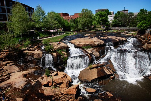 . falls park in greenville, south carolina .