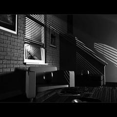 noir (jonathan sander) Tags: light blackandwhite bw 3d noir wine render perth blinds deftones cgi mountlawley lightshafts lighwave