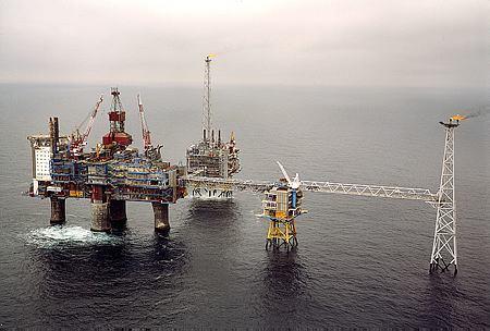 位於北海的斯萊普納CCS設施;圖片來自源tatoil,Øyvind Hagen攝