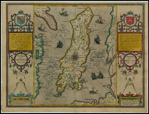 Isle of Man - John Speed proof maps 1605-1610
