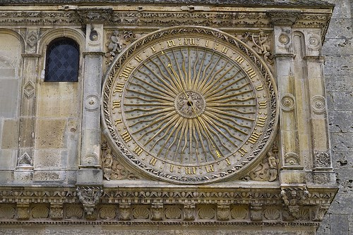 Clock on north side of Chatres Cathederal