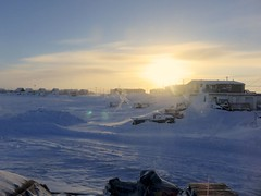 IMG_0768 (savillent) Tags: tuktoyaktuk northwest territories canada travel cold winter snow ice sky moon lunar full landscape arctic climate environment north photography point shoot canon sx700 savillent february 2017