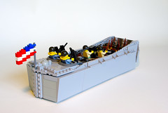 LCVP (4) (Dunechaser) Tags: lego wwii worldwarii ww2 landingcraft normandy dday lcvp higginsboat brickarms landingcraftvehiclepersonnel