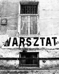 Workshop (Daniel Kulinski) Tags: poverty street old city urban blackandwhite bw white house black building window sign bar contrast work fix myself word grid town check walks daniel packing letters gig poor gray hovel evil samsung poland wb case days trellis want number trouble 49 workshop need warsaw shanty ash abc around grille bother did grating 1977 crate mischief 77 1000 lattice 320 quandary ashy needy warsztat necessity rattrap hardship greay indigence didmyself ccbync daniel1977 tl320 wb1000 gettypoland1 gettycentraleurope