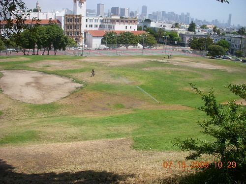 soccer field background. Dolores Park Soccer Field 2009