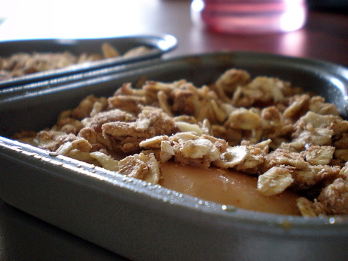 Apple Crumble for One - We're Not Much More Than Anything..