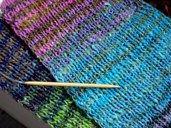 Noro Striped Scarf, Progress