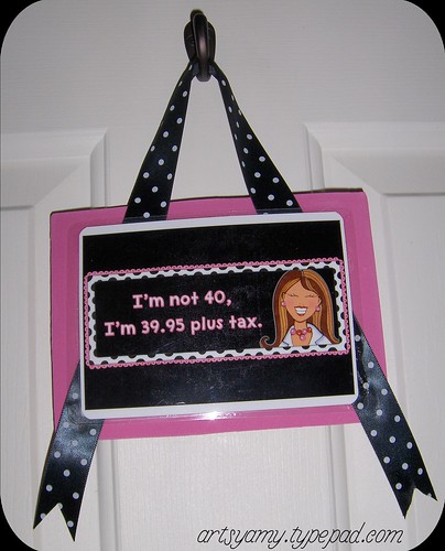 40th Birthday Hanging Sign