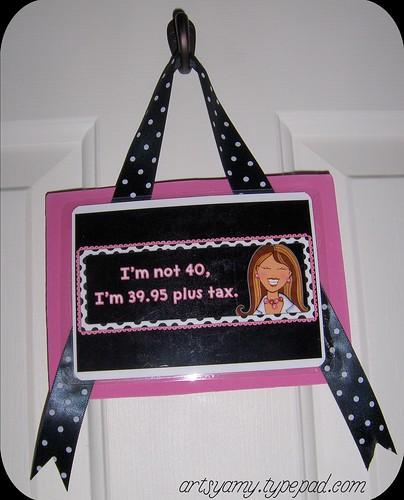 40th Birthday Hanging Sign
