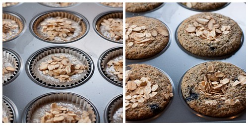 Baking the Blueberry Buttermilk Bran Muffins