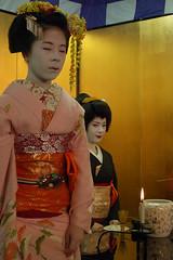 Geiko and Maiko ( (Q)) Tags: japan kyoto maiko geiko geisha    kimono gion  gionodori misuzu    gionhigashi