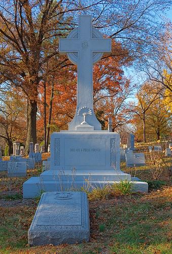 Calvary Catholic Cemetery, in Saint Louis, Missouri, USA - grave of Cardinal Ritter