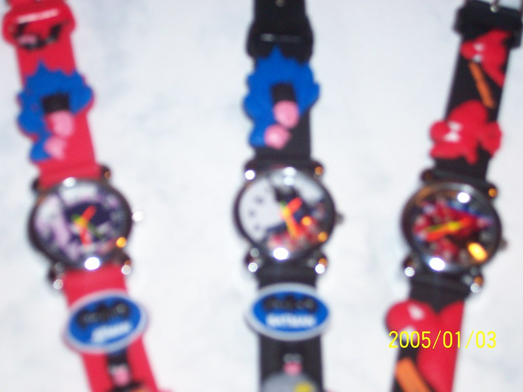 batman spiderman watches