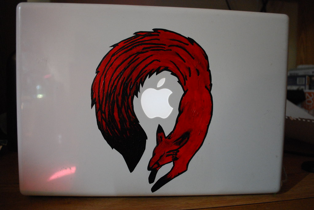 handmade: Macbook Fox Decal
