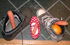 gooi wat in mijn schoentje