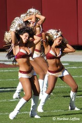 Washington Redskins Cheerleaders (Leffson Photography) Tags: sports football cheerleaders nfl redskins nfc washingtonredskins canon70200mmf28l allrightsreserved canonxti canon14extender marleneleffson leffsonphotography marleneleffson allrightsreservedmarleneleffson