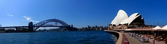 Panorama - Harbour bridge and opera house 1 (Ben Beiske) Tags: panorama sydney australia panoramic nsw newsouthwales australien stitched
