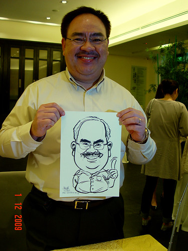 Caricature live sketching for Siam Express - 3