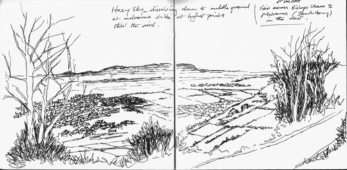 cleeve hill double page spread from my sketch book