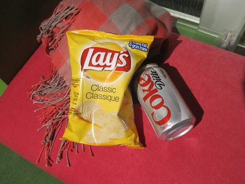 chips and soda - $2.25