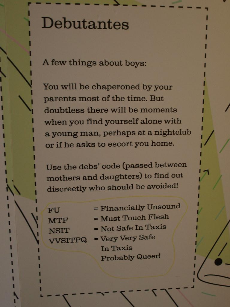 Advice to Debutantes