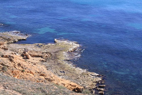Coastline just north of Torrevieja...