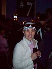 Outside Corral 7, prior to the race start