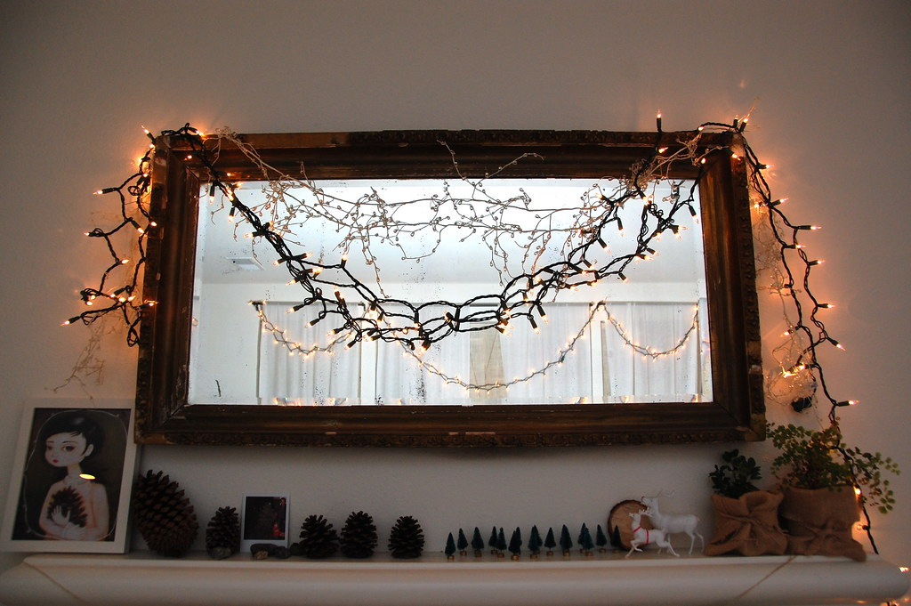 our winter mantel