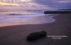 Sunset at Pererenan Beach, on Bali's south-western coast (Maaar) Tags: longexposure sunset bali seascape reflection landscape sands canggu img0814 romanticsunset beachforsurfing pererenanbeach beachforfishing nobigwaves stoneforeground woodforeground pantaidicanggubali alamakromanticsunset