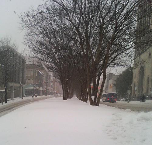 Snow on Broad Looking East