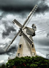 Willesborough Windmill (Jez22) Tags: copyright black mill windmill clouds wooden kent sails stormy ashford smock sweeps willesborough jeremysage