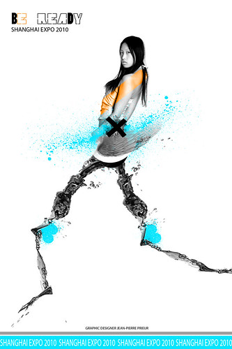 Shanghai World Expo 2010 Poster   Fashion Designer Poster   Fashion Rock  Show Girl Poster    Fashion Design Posters
