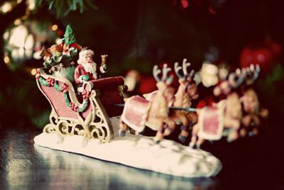 santa&sleigh