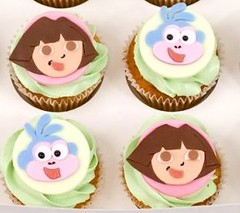 Dora the Explorer and Boots Cupcakes (Cheryl's Cupcakes) Tags: boots dora cupcake