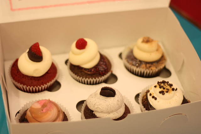 Cupcakes from The Cocoa Bean Cupcake Cafe in Provo, Utah